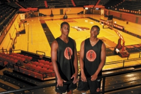 by: Jim CLARK, Brothers Seth (left) and Josh Tarver, who led Jesuit's 2005 state championship team, are playing basketball together once again.