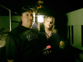 by: JONATHAN HOUSE, Todd and Martina Baker didn't let the paranormal activity at The 13th Door stop them from showing visitors a frighteningly good time during Saturday's ghost tours.