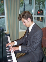 by: contributed photo, Daniel Swayze plays the clarinet as well as the piano.