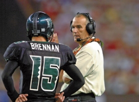 by: Courtesy of University of Hawaii, Prolific passing QB Colt Brennan and coach June Jones have Hawaii 10-2 and 25th in the Bowl Championship Series rankings.