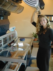 by: Jim Hart, Standing next to her pride and joy, Exhilarate Tan & 