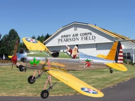by: PHOTO ILLUSTRATION: BILL ALLEY, The Pearson Air Museum plays host this weekend to Santa, who will pose for pictures with the kids in a vintage 1941 Ryan PT-21.
