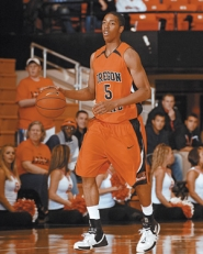 by: COURTESY OF OREGON STATE UNIVERSITY, Redshirt freshman point guard Josh Tarver has emerged as the glue of the Beavers' roster.