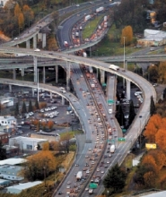 by: L.E. BASKOW, Interstate 5 in the Portland metro area, shown east of the Fremont Bridge, often sees gridlock both ways. The Portland Tribune's latest Rethinking installment focused on transportation issues; readers now follow up with their own ideas.