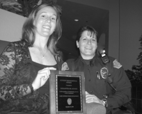 by: Lee van der Voo, Samantha Adams was nominated for the Citizen Recognition Award by Officer Dawn Walker, an honor bestowed by the Lake Oswego Police.