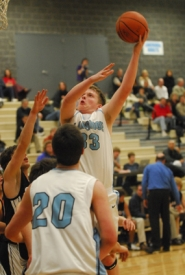 by: Vern Uyetake, Lakeridge's Graham Moredock, with ball, gave an inspired effort in last Friday's game against Sandy. Both of Moredock's grandmothers passed away earlier in the week but he still played in Friday's game and scored a team-high 17 points. Lakeridge followed that victory with an overtime win against Franklin on Tuesday. That pushed Lakeridge's season record to 3-0.