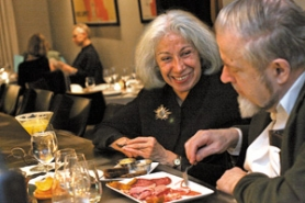 by: DENISE FARWELL, Wine Wednesday regulars Argentina Erdman and husband John recently sampled Rieslings at Paley's Place alongside a selection of German charcuterie and mussels and prawns in a spicy coconut curry.