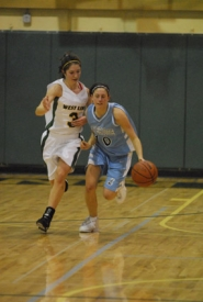 by: Vern Uyetake, Lakeridge's Ally Knecht dribbles past West Linn's Emily Wattman-Turner during TRL action on Tuesday. Facing a virtual must-win situation, Lakeridge turned in one of its best games of the season while registering a 59-53 victory over the Lions. That moved the Pacers within a half-game of West Linn for fourth place in the TRL.