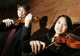 by: Jaime Valdez, Brandon Garbot and Natalie Yu are ready to perform March 3 with the Portland Youth Philharmonic.