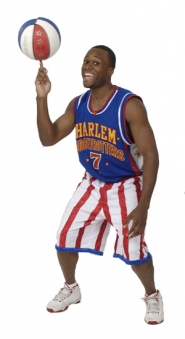by: COURTESY OF THE HARLEM GLOBETROTTERS, The Rose Garden hosts Herbert Evans Jr. and his fellow Harlem Globetrotters for two dazzling displays on Saturday.The Rose Garden hosts Herbert Evans Jr. and his fellow Harlem Globetrotters for two dazzling displays on Saturday.