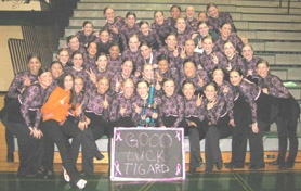 by: Submitted photo, WINNERS - The Tigard High School Tigerettes took second place in the large drill category at the Mt. Hood and Friends dance competition Feb. 17.