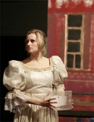 by: Chase Allgood, Jessica Jaeger as Cinderella portrays one of the princesses in Theatre in the Grove's