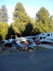 by: Anthony Roberts, Several manufactured homes in the Driftwood park on Highway 99W in Sherwood were torn down in 2006, when home owners were given one year's notice that the park would close.