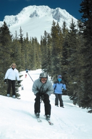 by: contributed photo, Skiers enjoy some of Mount Hood's most exclusive terrain during last year's Ski the Glade.