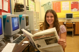 by: Marcus Hathcock, Senior Tiffany Fegel says she loves the process of putting together a newspaper about as much as she does reading the finished product.