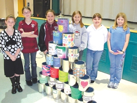 by: Ray Pitz, Students who took part in Archer Glen's Pennis for Patients fund raiser.
