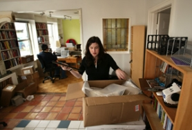 by: L.E. BASKOW, Unpacking boxes in a new office on Northeast Alberta Street, Bitch magazine's Andi Zeisler talks about how the magazine got where it is, and where she's taking it.
