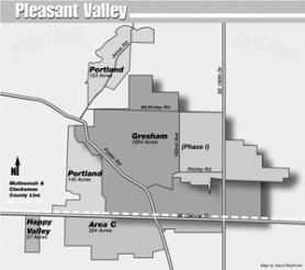 by: David Boehmke, Phase I of Pleasant Valley, bisected by 190th Drive on the map, is closer to getting started after developers' cost estimates nearly bridged a funding gap.