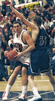 by: VERN UYETAKE, Lake Oswego's Kevin Love (left) and South Medford's Kyle Singler could meet one last time as high schoolers in the 6A state finals Saturday in Eugene.