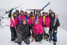 by: SUBMITTED PHOTO, Members of the Lakeridge High School ski teams finished fourth in the combined competition at the state championships recently at Mount Ashland.