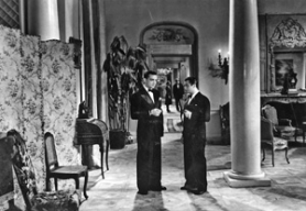"by: Courtesy of Janus Films, Aviator André Jurieux (Roland Toutain, left) is among the guests at a weekend in the country at the home of the Marquis (Marcel Dalio) in ""The Rules of the Game,"" Jean Renoir's layered, long-banned look at French society."