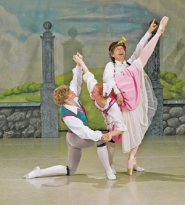 "by: COURTESY OF LEN MILLS, Steven Houser (left), Lorianne Barclay and Len Mills dance for some laughs in ""La Fille Mal Gardée."""