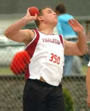 by: DAN BROOD, THROWING STAR – Tualatin junior Dennis Ranck should be one of the top competitors in the Pacific Conference in both the discus and shot put events.