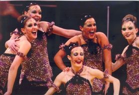by: Janet Johnson, LIGHT ON THEIR FEET – Members of Tualatin High School's MODAZ dance team performing at the state championships include (from left) Richelle Olson, Brittany Scott, Casey Johnson, Megan Hutchinson and Elisabeth Kornberg.