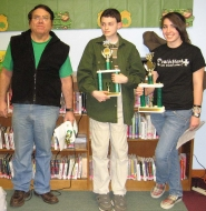 by: george hoyt, The winners, from left: Steve Winkler, Codee Sheets, Julia Gomes.