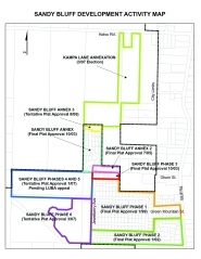 by: contributed graphic, The green area on this map of the Sandy Bluff neighborhood was the proposed annexation area.
