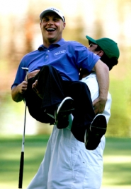 by: HARRY HOW, Last year at about this time, Ben Crane got a congratulatory lift from his caddie at Augusta, Ga., in his Masters debut. Despite a back injury, Crane banks on playing the event again next week.