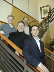 by: Jim Hart, Amid the most recent West Linn business merger is this quartet of businessmen representing three separate businesses, from left, Rob Farley, chief technical officer, David Halseth, chairman, Mike Sunderland, chief financial officer, and Jason Hess, chief executive officer.
