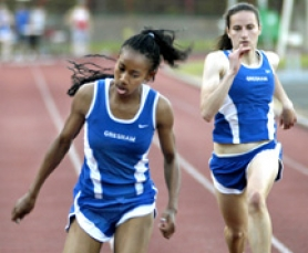 by: David Ball, Gresham junior sprinter Schavey Hill broke the district record in the 200-meter dash in 2006.