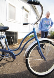 by: Chase Allgood, When Maxine Carlson was six, her parents bought her a bike at Schlegel's Bicycles in Forest Grove. At 87, she purchased her second cycle at the same store.
