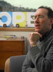 by: Vern Uyetake, Lake Oswego resident Steven Bass, president and chief executive officer of Oregon Public Broadcasting, talks about the future of his company in his office at OPB headquarters in Portland.