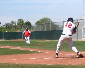 by: contributed photo from Wade Lockett, Sandy's Chris Houle at bat in Phoenix.