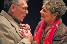 "by: ©2007 OWEN CAREY, Poet Alice (JoAnn Johnson) torments her professor husband, Edward (Keith Scales), in ""The Retreat From Moscow,"" which may be Portland's best play this season."