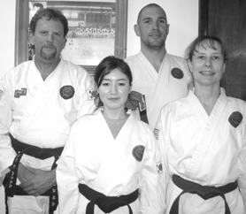 by: Contributed photo, Jessie Ellington (front row, left) recently earned her black belt under Tae Kwon Do instructor John Kirkpatrick (back row, left). Here she is also pictured with Jesse Chester and Dianne Kirkpatrick.