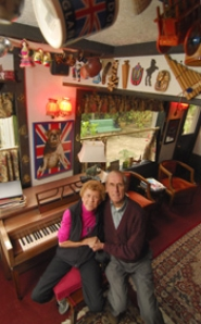 by: Vern Uyetake, Harry and Diane Meader have made the English Pub a part of their everyday life in the basement of their Lake Oswego home.