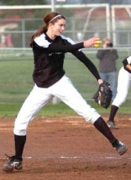 by: DAN BROOD, ONE-TWO PITCHING PUNCH – Tigard senior Katie Alexander will combine with Ashley Suter to give the Tigers a strong pitching combination this season.