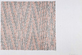 "by: , Mel Bochner's screenprint ""Range"" plays with color, repetition, simplicity and math. Right?"