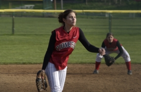 by: Michael Cade, Sandy's southpaw pitcher Courtney Brown struck out five Centennial batters on April 2.