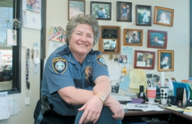 by: John Klicker, Gresham Police Chief Carla Piluso was chosen as one of this year's five White Rose Award winners by the March of Dimes. Her sister, Julie Piluso, nominated her for the award, which recognizes volunteer activity and excellence in a profession.