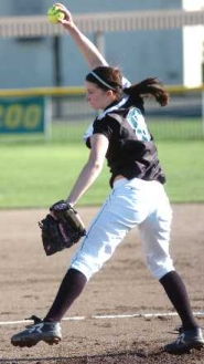 by: DAN BROOD, STRONG PERFORMANCE — Tigard senior Katie Alexander gave up just one run over 13 innings pitched.