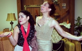 "by: Courtesy of Miracle Theatre Group, Portland State University student and Mexico native Nelda Reyes (left, with Bibiana Lorenzo) pulls off the title role very well in ""Rosalba y los Llaveros."""