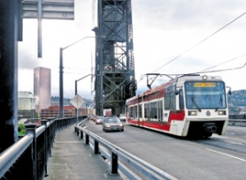 by: JIM CLARK, The Steel Bridge is used by trains, buses, cars, bikes and MAX trains — modes of transportation about which Portland Tribune readers have a lot to