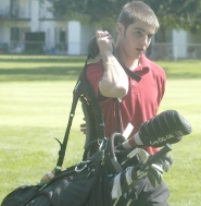 by: David Ball, Sandy's Forrest Wagoner on the course at Gresham.