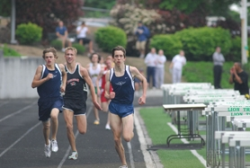 by: Vern Uyetake, Lake Oswego's Elijah Greer, right, was the best in the TRL in the 800 and 1,500-meter runs. His winning time in the 800 was the best in state last week but he won't compete in that event at state in order to save himself for the 1,500 and the long relay.