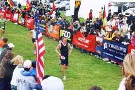 by: Submitted photo, Despite being a relative newcomer to the sport, Steve White competed in the Escape from Alcatraz Triathlon last month.
