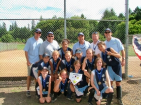 by: submitted photo, Members of the Renegades U12 softball team pose for a photo after the team won the silver division of the Youthfastpitch.com Northwest tournament two weeks ago. In the championship game against Prinveville, the lead changed hands multiple times before the Renegades prevailed for a 13-12 victory.